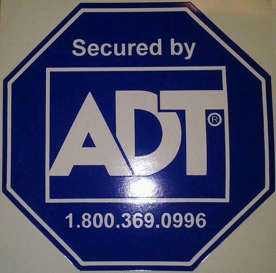 Home security signs and decals