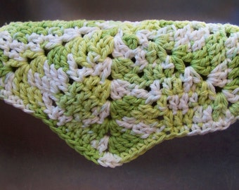Green and White Star Dishcloth