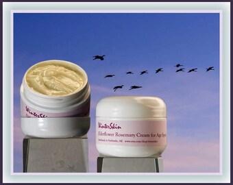 Elderflower Rosemary Night Cream for Age Spots, Mature Skin Cream, Skin Moisturizer, Anti Age Cream