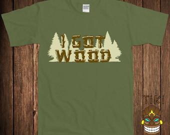 Funny I Got Wood Shaun Of The Dead T-shirt Tshirt Tee Shirt Movie Dirty Fun College Humor Joke Rude Gag Cool Geek Nerd Club Bar Novelty