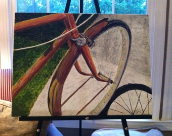 Driver's Seat - Acrylic Bicycle Painting - 18x24