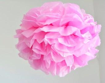 1 paper flower pom pom -- Xl--bubblegum -- party decoration