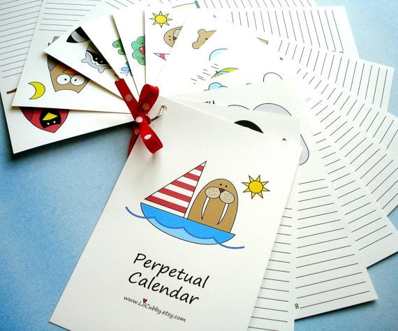 Diy Birthday Calendar Template : Diy printable perpetual birthday calendar by