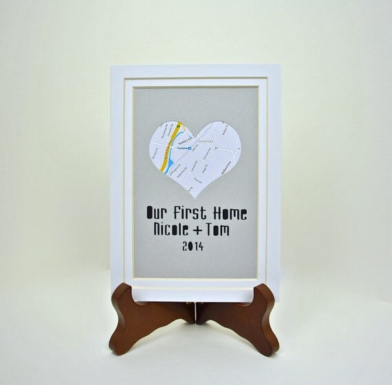 Items Similar To Our First Home Personalized Heart Map
