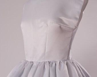 Wedding Gown - Audrey Hepburn Wedding Dress - Retro Wedding Dress - Tea Length Satin Bridal Dress - Custom Made including Plus Size