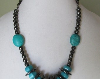 Hemalyke and turquoise necklace