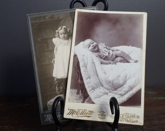 Antique Photographs~Happy Baby & Little Girl ~ brought to you by Vintage Chaos
