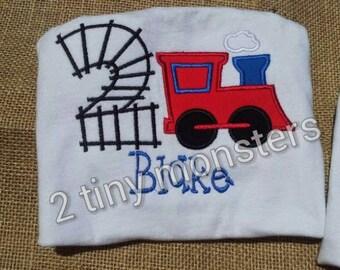 custom train birthday shirt