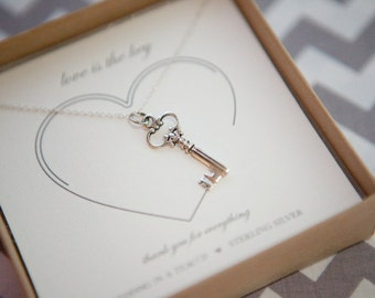 Love is the Key -Sterling Silver Necklace