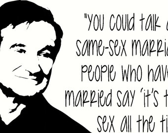 from Theodore robin williams gay marriage