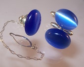 Cat's Eye Cufflinks & Tie Pin, Men's Birthday Gifts, Available in Singles or Set