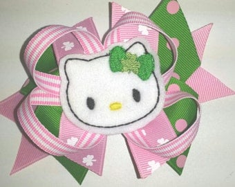 St. Patrick's Day Spiked Kitty Hair Bow