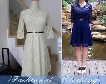 blue dress red dress green dress spring dress autumn dress party dress women clothing Date dress Cute dress women dress lace dress