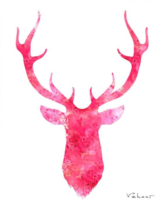 deer head logo pink - photo #13