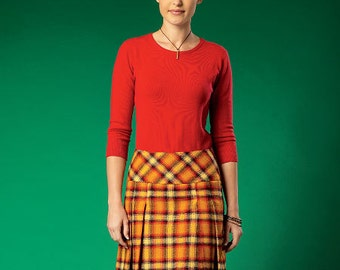 McCall's Sewing Pattern M7022 Misses' Pleated or Flared Skirts