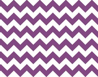 Riley Blake - Purple Small Chevron - 100% Cotton Fabric- - 1 METRE