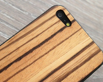 Zebrawood  iPhone 4/4S iPhone 5 Xperia Z  Real Wood Skin (Back Cover)