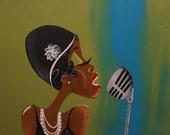 "Black Art/ African American Art ""Fannie the Flapper"" 20x24 in. Original Art"