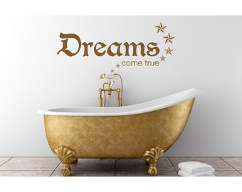 Dreams wall quote decal, sticker, mural, vinyl wall art saying