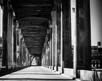 12th Street Bridge, Kansas City, MO, Black & White Fine Art Photography by Pitts Photography