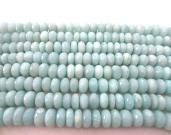 Natural Amazonite Rondelle beads facited 8X8 mm