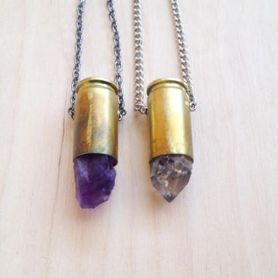 Reloaded Series|| Amethyst/ Citrine/ Quartz Bullet Necklace