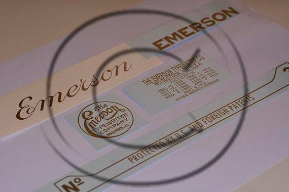 Emerson 3  Typewriter Water Slide Decal set