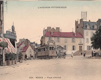 "Vintage French City Postcard."" Aveyron Picturesque""    "" Rodez """