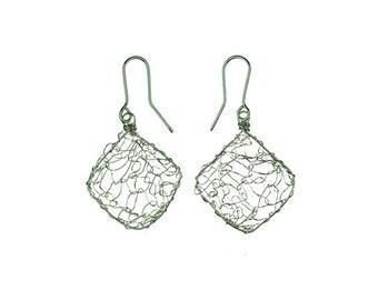 """Earrings """"Susanne"""" made in silver."""
