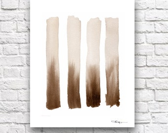 "Abstract Watercolor Painting - ""SEPIA"" - Art Print - Contemporary Wall Decor"