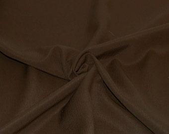 Crinkled Rayon Challis fabric by the yard - Chocolate Brown