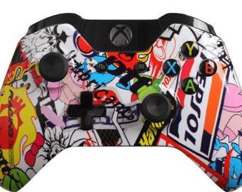Custom Xbox One Controller - Sticker Bomb