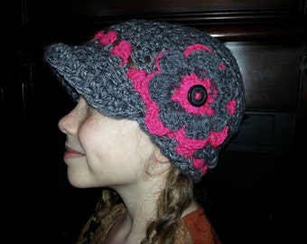 Vibrant Crochet Newsboy Hat