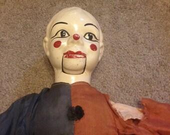 Vintage Clown Ventriloquist Dummy