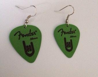 Fender Guitar Pick Earrings