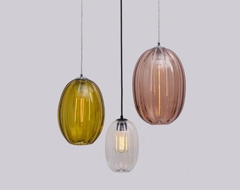 Modernist Oval Pendant Light