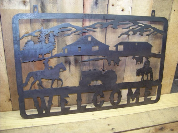 Farm Decor Ranch Decor Country Decor Horse by MetalDesignWorx