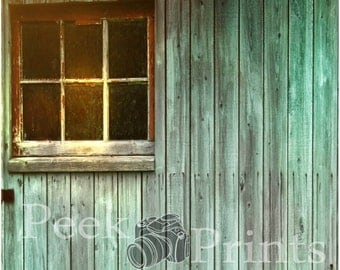 5ft.x5ft. Barn Window Vinyl Photography Backdrop, Window Background