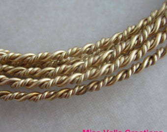 fancy twisted rope brass jewelry wire 60 inches