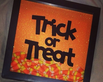 Trick or Treat Halloween Shadow Box Decor