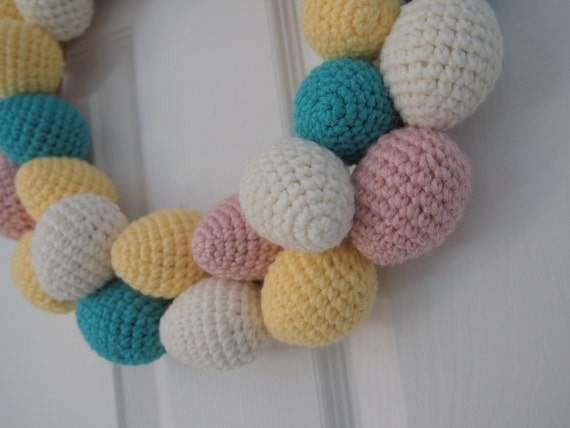 Plush Wreath - Spring Eggs