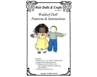 "12"", 16"" and 20"" Waldorf Doll Patterns and Instructions"
