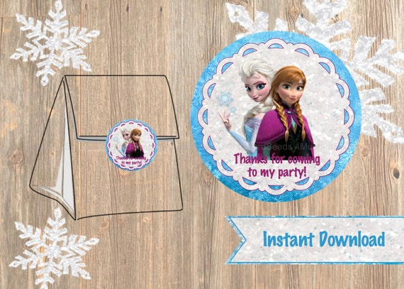 Items Similar To Frozen Favor Tag Or Labels Disney Frozen