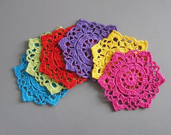 6 Colorful Crochet Coasters