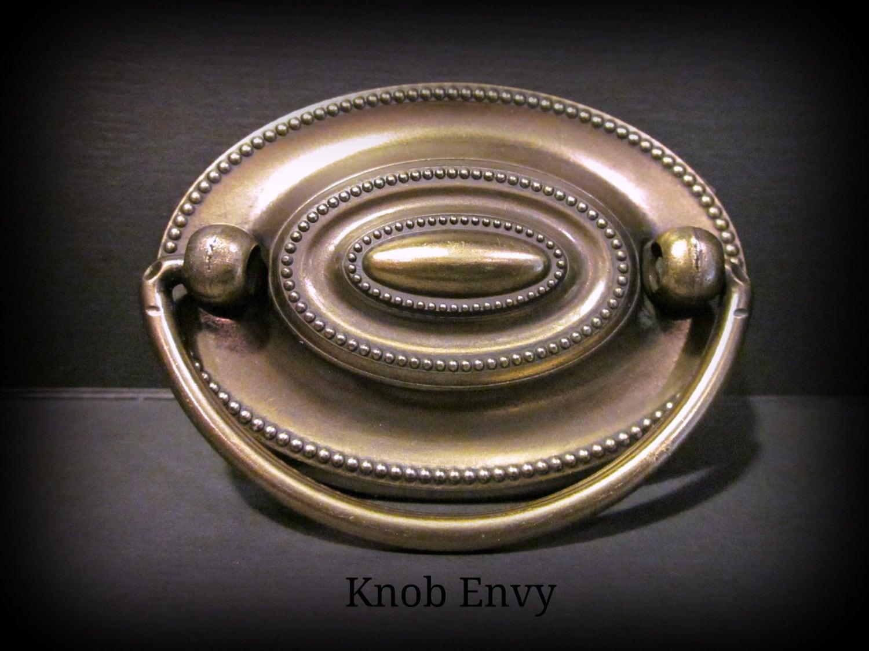 Set Of 6 Antique English Brass Hepplewhite Pulls More Or