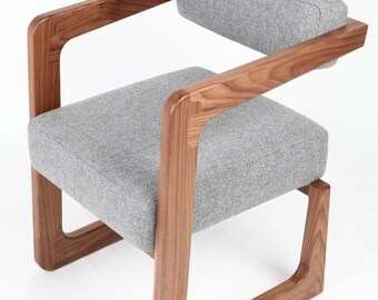 James occasional chair handmade from black walnut