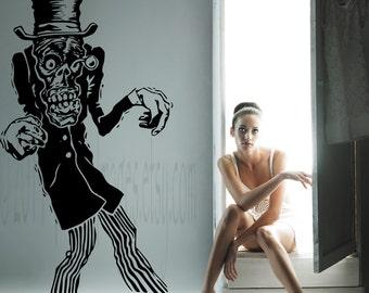 Creeper zombie vinyl wall decal, home decor, wall art