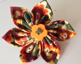 Fall and Thanksgiving Dog Collar Flower with Available Matching Collar