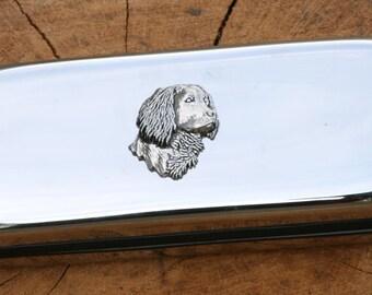 Spaniel Metal Pen Case & Ball Point Set Gift FREE ENGRAVING