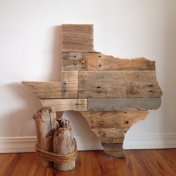 Reclaimed wood texas sign by harborandhome on etsy for Reclaimed pallet wood wall